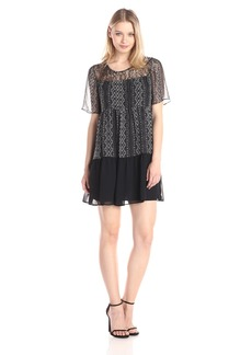 BCBGeneration Women's Dress with Lace Yoke