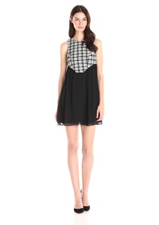 BCBGeneration Women's Dress With Shaped Yoke Black/Combo