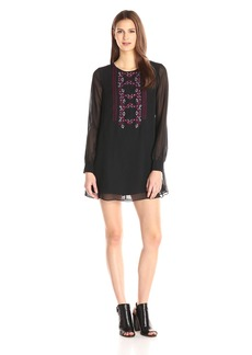 BCBGeneration Women's Embroidered Front Dress