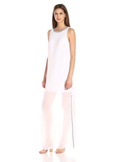 BCBGeneration Women's Embroidered Side Slit Dress