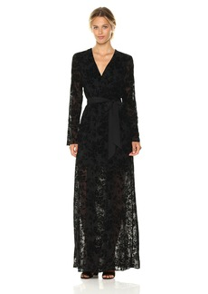 BCBGeneration Women's Faux Wrap Long Dress