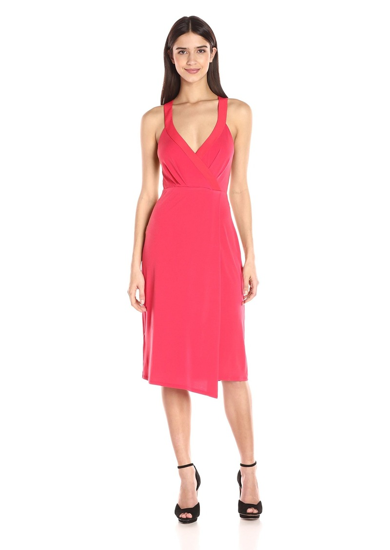 BCBGeneration Women's Faux Wrap Midi Dress