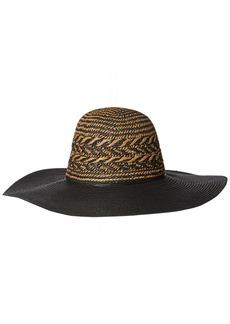BCBGeneration Women's Feather Weave Floppy Hat