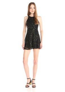 BCBGeneration Women's Fit and Flare Dress Sequin Embellishment
