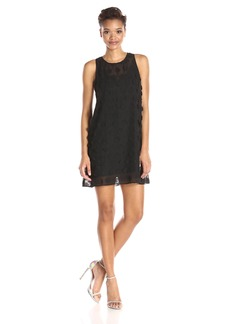BCBGeneration Women's Floral Chiffon Dress black S