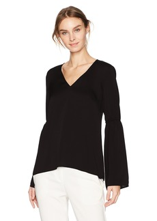 BCBGeneration Women's Gathered Bell Sleeve Top  L
