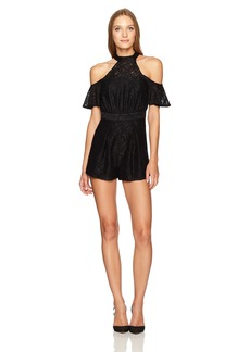BCBGeneration Women's Halter Cold Shoulder Romper