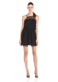 BCBGeneration Women's Halter Tulle and Lace Dress