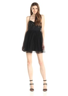 BCBGeneration Women's Lace Bodice Dress (Sequin and Tulle)