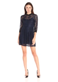 BCBGeneration Women's Lace Collared Dress