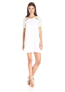 BCBGeneration Women's Lace Contrast Shift Dress