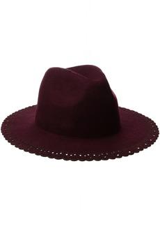 BCBGeneration Women's Lace Edge Panama Hat