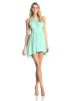 BCBGeneration Women's Lace Fit and Flare Dress
