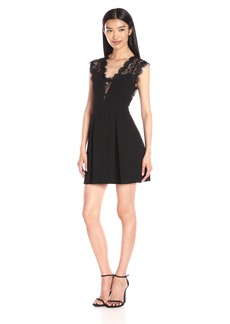 BCBGeneration Women's Lace Inset Dress black
