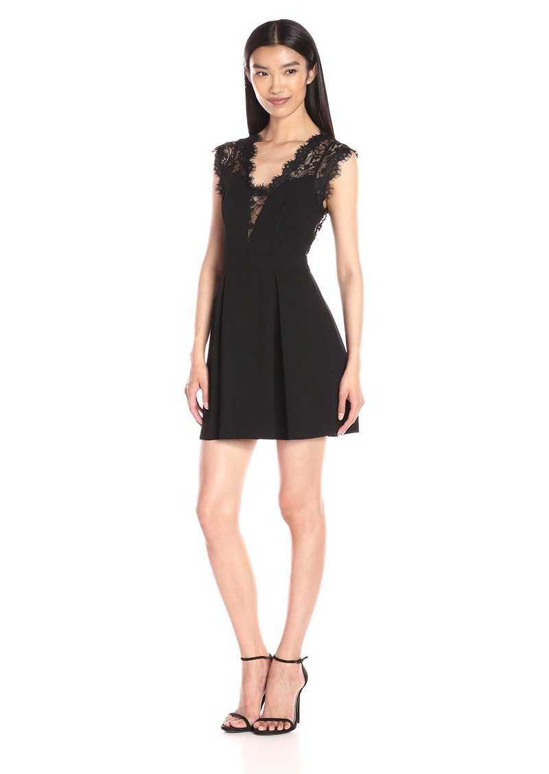 BCBGeneration Women's Lace Inset Dress black