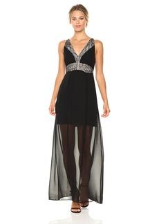 BCBGeneration Women's Lace Paneled Maxi Dress