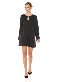 BCBGeneration Women's Lace Trim Shirt Dress  S