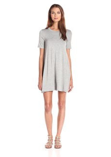 BCBGeneration Women's Grey a-Line Back Yoke Dress