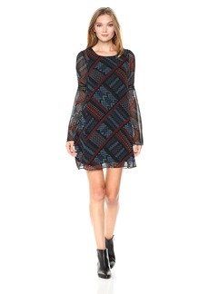 BCBGeneration Women's Long Sleeve a-Line Dress  XXS