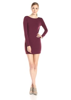 BCBGeneration Women's Long Sleeve Cowl Back Mini Dress