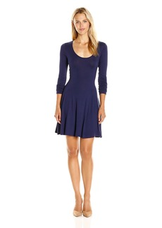 BCBGeneration Women's Long Sleeve Fit and Flare Dress