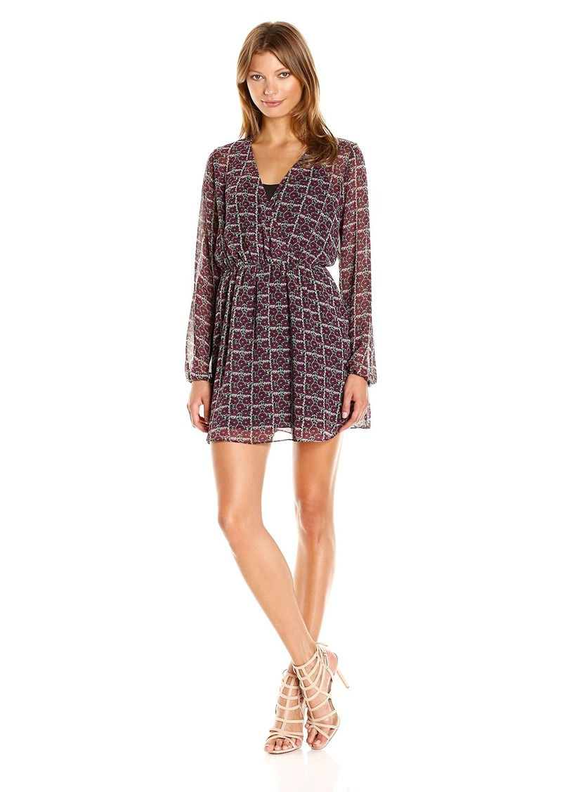 BCBGeneration Women's Long Sleeve Printed Boho Dress  XXS