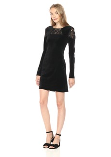 BCBGeneration Women's Long Sleeve Velvet Dress  M