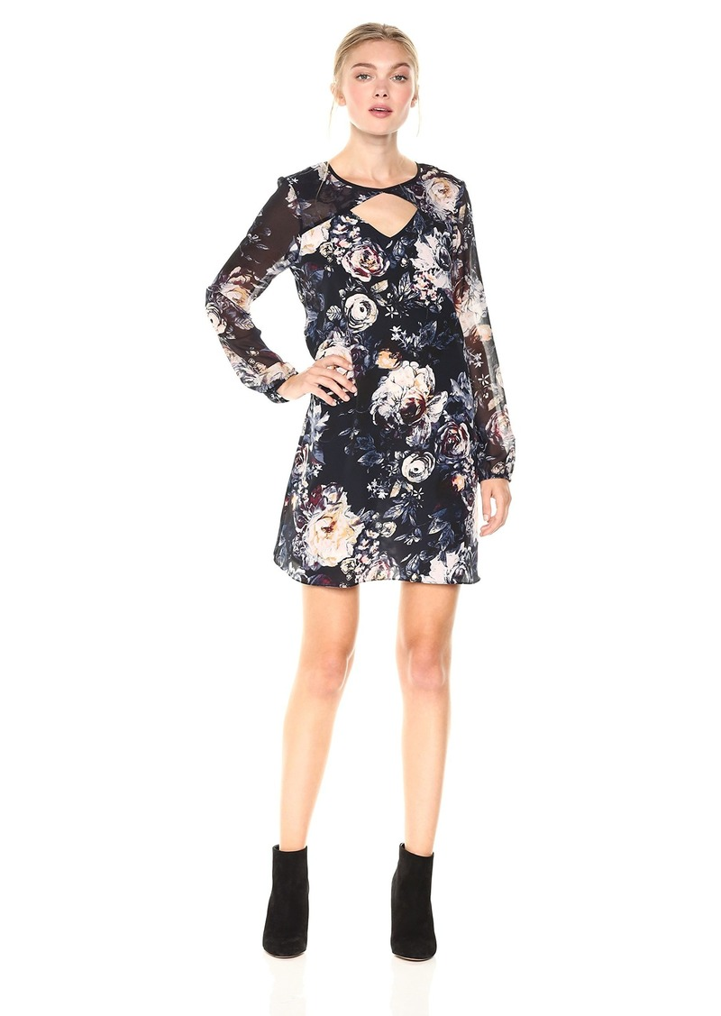 0be4dd2edee4 BCBG BCBGeneration Women s Long Sleeves Shirt Dress With Cut Out S ...