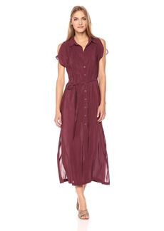 BCBGeneration Women's Maxi Button Down Shirt Dress