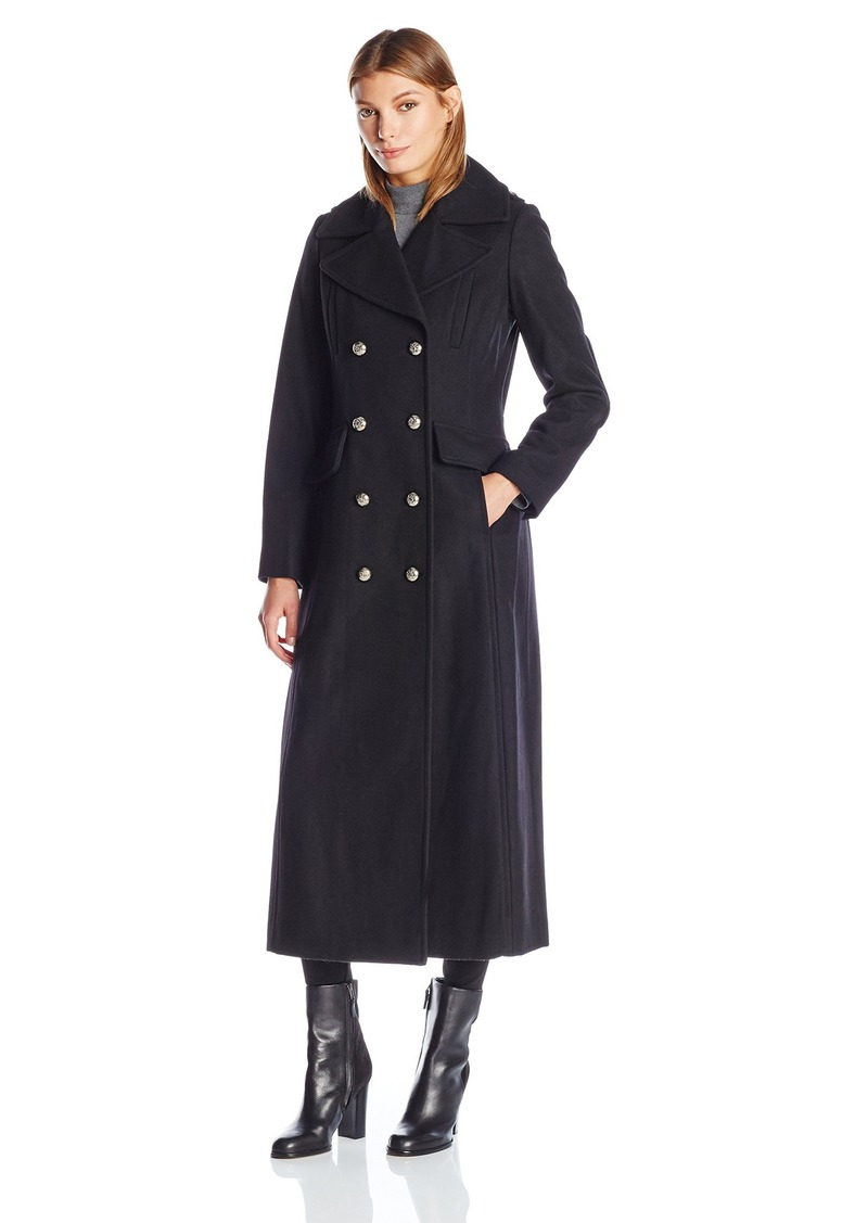 BCBGeneration Women's Maxi Military Wool Peacoat  L
