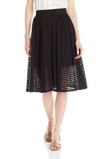 BCBGeneration Women's Mesh Midi Skirt
