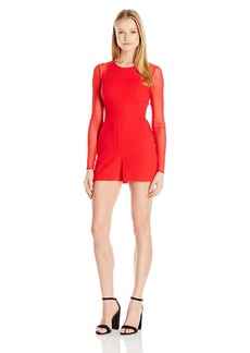 BCBGeneration Women's Mesh Sleeve Romper