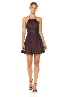BCBGeneration Women's Metallic Halter Dress