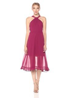 BCBGeneration Women's Midi Chiffon Dress