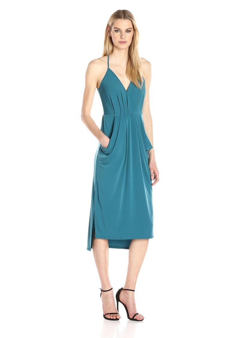 BCBGeneration Women's Midi Faux Wrap Dress