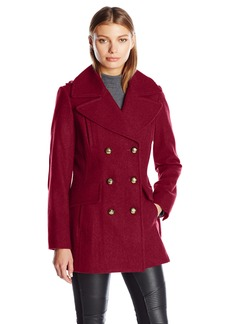BCBGeneration Women's Military Wool Peacoat  L
