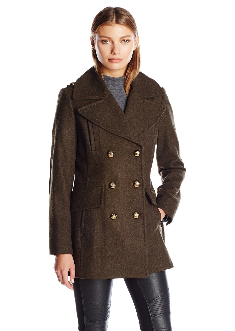 BCBGeneration Women's Military Wool Peacoat  XS