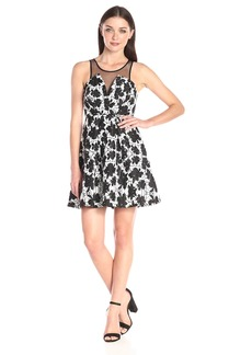 BCBGeneration Women's Mix-Media Cocktail Dress