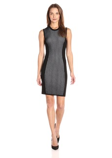 BCBGeneration Women's Mix Stitch Body Con Sweater Dress  L