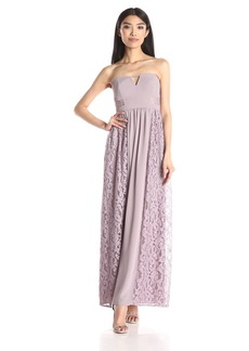 BCBGeneration Women's Mixed Media Sweetheart Neckline Dress
