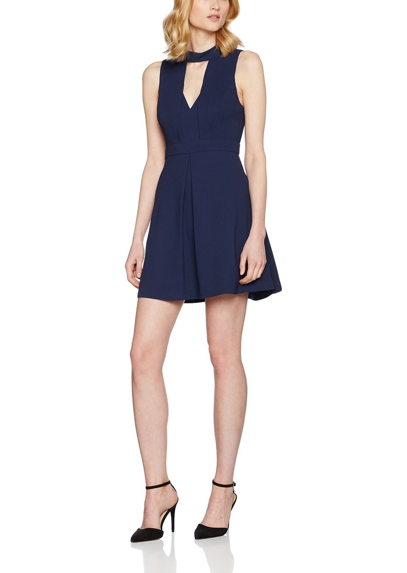 BCBGeneration Women's Mock Neck Fit and Flare Dress