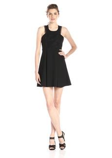 BCBGeneration Women's Mock-Neck Lace-Front Dress