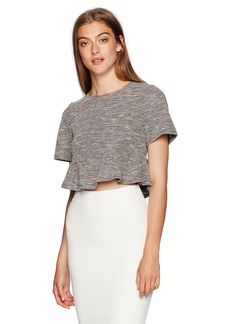 BCBGeneration Women's Multicolored Paneled Shirred Top