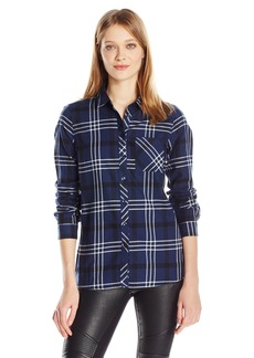 BCBGeneration Women's One Pocket Flannel Shirt