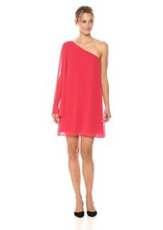 BCBGeneration Women's One Shoulder Chiffon Dress  XS