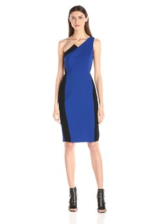 BCBGeneration Women's One-Shoulder Color-Blocked Dress