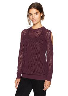 BCBGeneration Women's Open Stitch Cold Shoulder Sweater