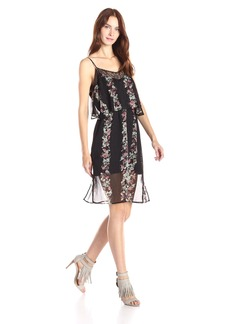 BCBGeneration Women's Overlay Dress with Lace Trim