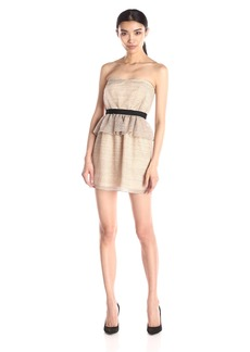 BCBGeneration Women's Peplum Tube Dress