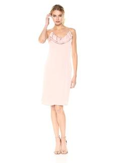 BCBGeneration Women's Pink Ruffled Slip Dress